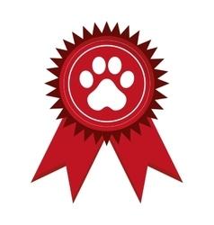Pet award icon vector