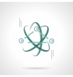 Physics science flat color design icon vector