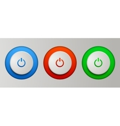Power buttons set vector