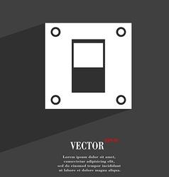 Power switch icon symbol flat modern web design vector