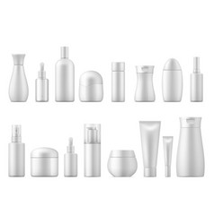 realistic cosmetic package white product bottle vector image