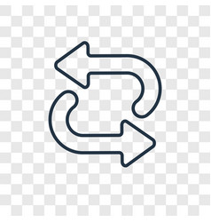 repeat concept linear icon isolated on vector image