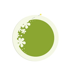 Round flower frame with pin vector