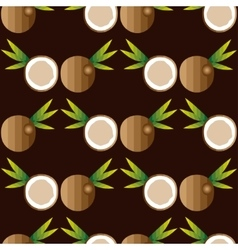 Seamless background with coconuts vector image