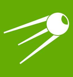 Sputnik icon green vector