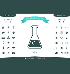 test-tube symbol bubbles vector image