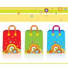 three parer bags vector image