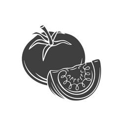 Tomato glyph icon vector