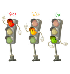 Traffic light isolated on white background vector