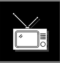tv icon flat vector image