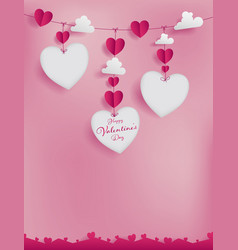 Valentines template for frame bordernote or promo vector