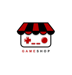 Video game shop theme logo template vector