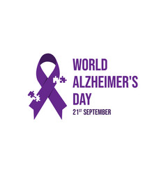 world alzheimers day icon vector image