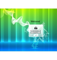 abstract login page vector image