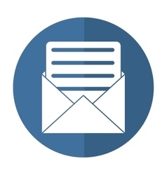 envelope paper letter email shadow vector image