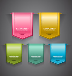 Glossy Labels vector image vector image