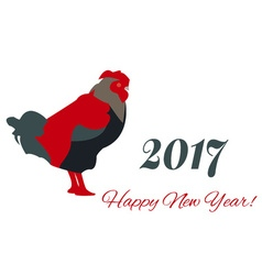 2017 New Year Colorful Greeting Card with Rooster vector image vector image