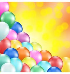 balloons vector image vector image