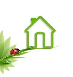 green Eco-house vector image