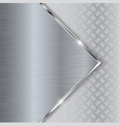 non-slip surface on metal brushed background vector image vector image