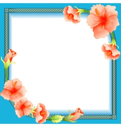 background frame with ornament vector image vector image