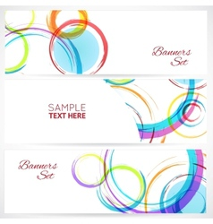 Banners set of abstract colorful background with vector image vector image