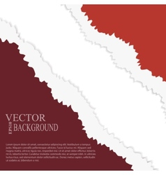 EPS10 file Golden and red tear paper vector image