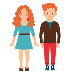happy smiling red haired children vector image vector image