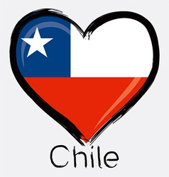love Chile flag vector image vector image