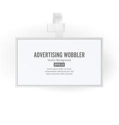 plastic advertising wobbler papper price vector image