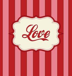 retro love design vector image vector image