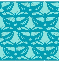 seamless butterfly background vector image