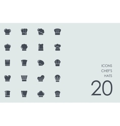 Set of chefs hats icons vector image