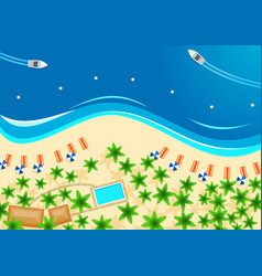 tropical beach poster for summer vacation design vector image