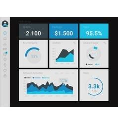 Admin App Dashboard vector image vector image