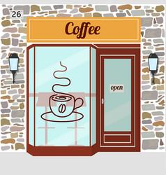 coffee shop facade vector image vector image