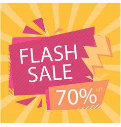 Flash sale 70 off bolt orange background i vector