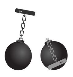 prison ball cartoon vector image
