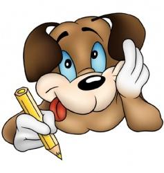 puppy dog vector image