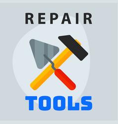 Repair tools hammer trowel icon creative graphic vector