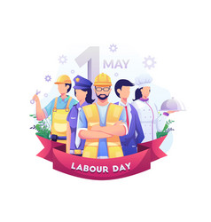 A group people different professions vector