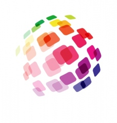 Abstract ball made of squares vector