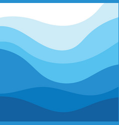 Abstract water wave design background vector