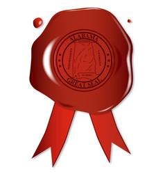alabama state wax seal vector image