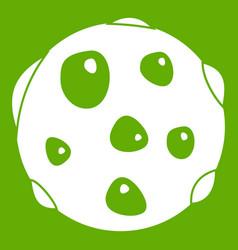 Alone planet icon green vector