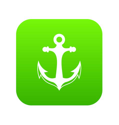 anchor icon digital green vector image