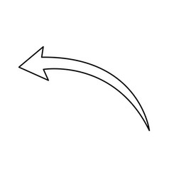 arrow indicates the direction icon vector image