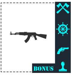 assault rifle icon flat vector image