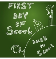 background First day of scool background vector image