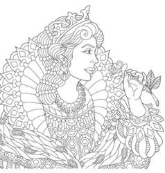 Beautiful queen princess vector image